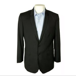 Burberry London Mansell US 42R/EU 52R Black Wool